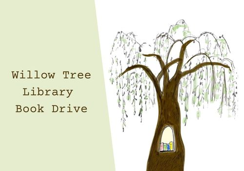 Willow Tree Library Book Drive
