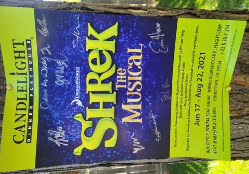 Shrek Poster Candlelight Dinner Playhouse