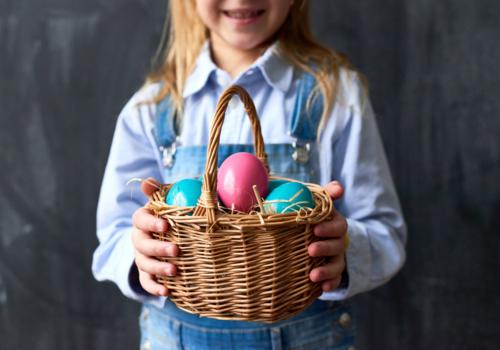 Easter Basket held by girl