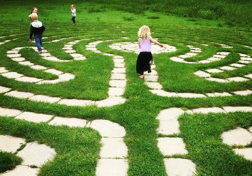 Frontier Park labyrinth erie pa