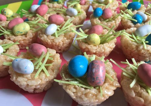 Easter Rice Krispie Egg Nests