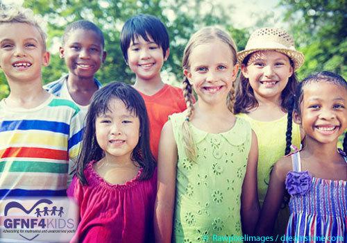 group of happy, diverse children