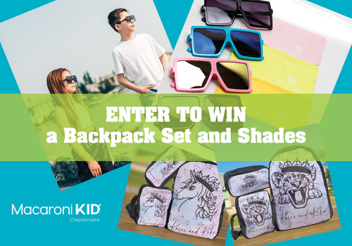 Backpack and sunglasses giveaway in Chestermere