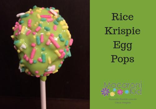 Rice Krispie Egg Pops
