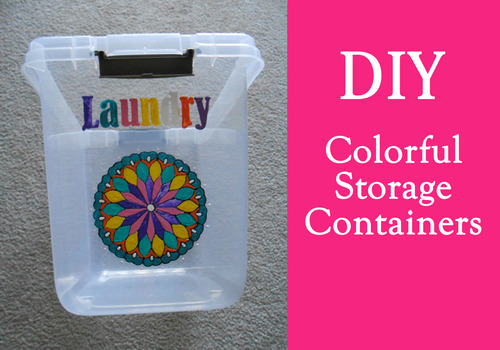 DIY Colorful Storage Containers