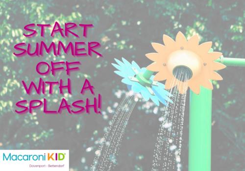 water flower summer splash