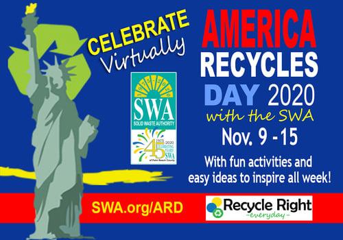 Celebrate America Recycles Day with the SWA - Virtually - Nov. 9-15