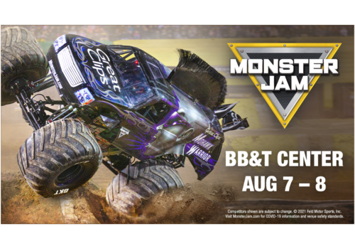 Monster Jam at BB&T Center August 7th and 8th