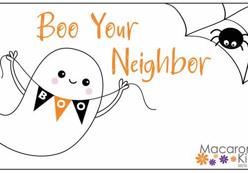 Boo your neighbor boo bag boo bucket Halloween trick or treat
