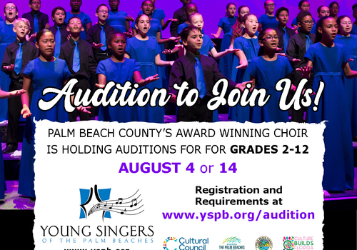 Young Singers of the Palm Beaches August Auditions
