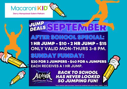 Altitude Jump Park Pelham Sept. Specials