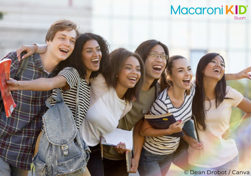 Multiethnic Group of Happy High School Students