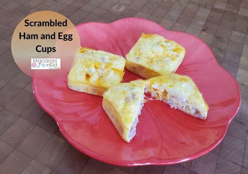 Scrambled Ham and Egg Cups