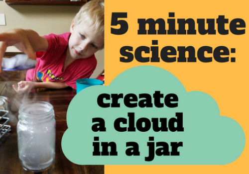 cloud in a jar: 5 minute science