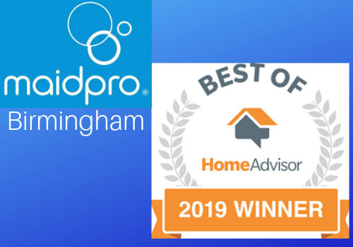 MaidPro of Birmingham was one of five locations to receive a Best of HomeAdvisor Award for 2019