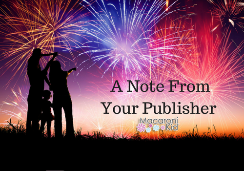A Note From Your Publisher 4th Of July