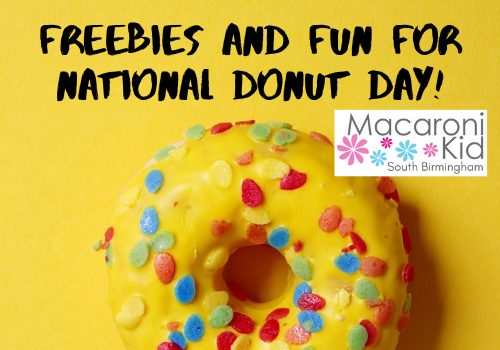 Where can you get a free donut on National Doughnut Day in Birmingham, Alabama?