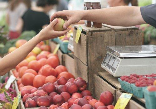 Farmers' Market vegetables fruit produce
