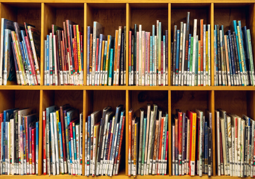 books at a library