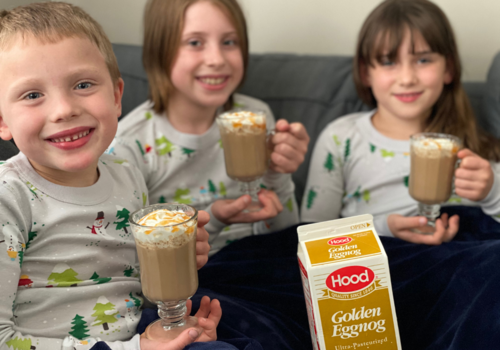 Celebrating the holidays at home with Hood Eggnog