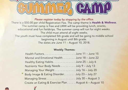 Summer camp Middle Lake Worth West