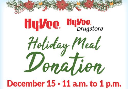 Hy-Vee Meal Donations Cedar Rapids Iowa