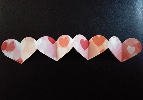 Paper Hearts Valentine's Day Decorations