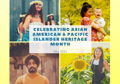 4 images of Asian women and men