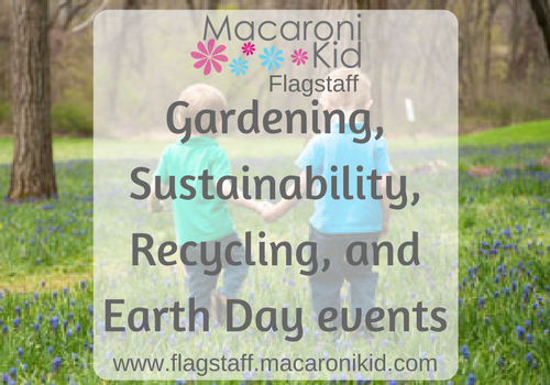 gardening, sustainability, recycling, and earth day events