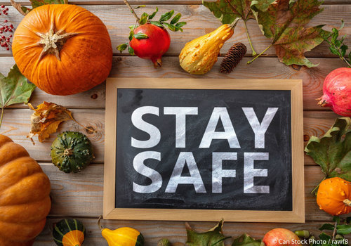 Thanksgiving Stay Safe Sign