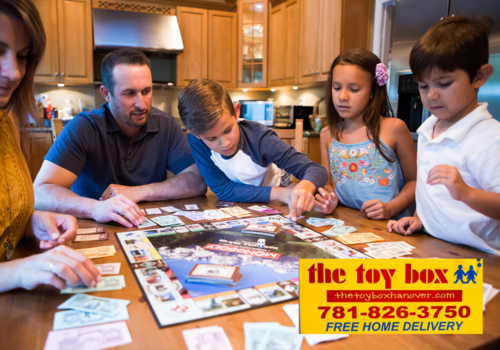 Family Game Night with games from The Toy Box in Hanover, MA
