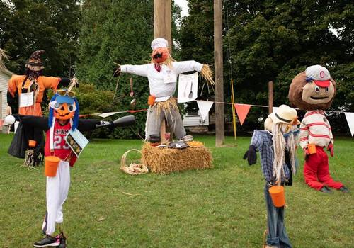 Whitehouse Fruit Farm scarecrows