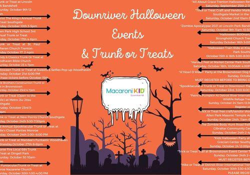 Downriver Michigan Halloween Events Trunk or Treats 2021