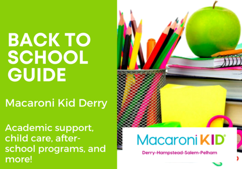 Macaroni Kid Derry Back to School Guide