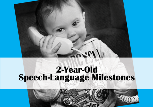 Toddler on Phone Speech Milestones