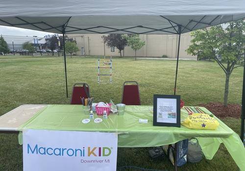 Macaroni Kid booth