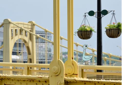 Pigeon on Pittsburgh bridge