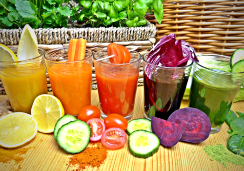 rainbow of smoothies st. Patrick's day