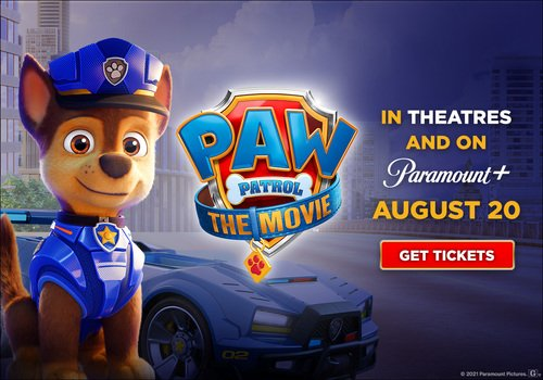 PAW Patrol: The movie comes to theatres and Paramount+