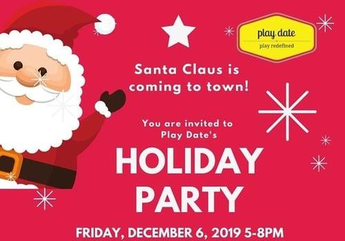 Play Date Santa Holiday Party