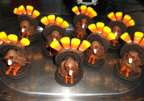 Thanksgiving Cookie Turkeys