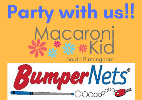 Celebrate Macaroni Kid South Birmingham's first anniversary at BumperNets arcade located within Riverchase Galleria