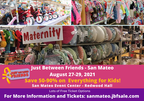 Save 50-90% on Everything for Kids Just Between Friends August Sale!