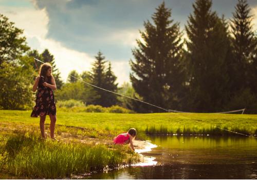 teaching kids to fish is fun