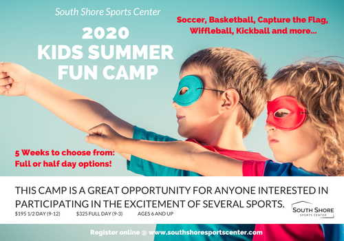 Kids Summer Camp at South Shore Sports Center in Hingham MA