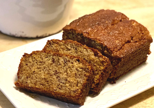 easy banana bread nutty quick fast