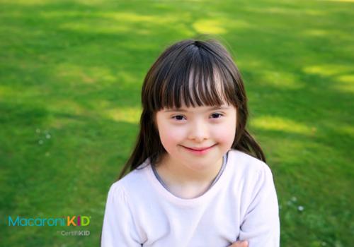 Little Girl Smiling Outdoors