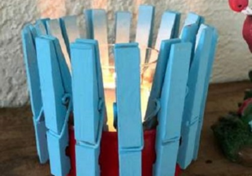 4th of July Candle Holder
