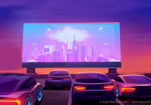 Outdoor drive-in movie