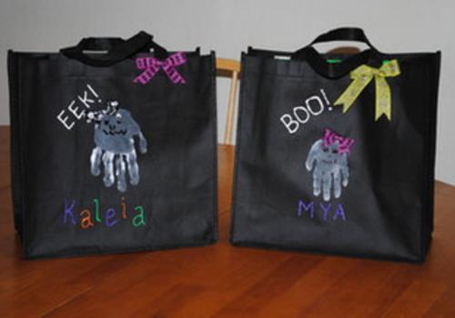 Handmade Halloween Treat Bags